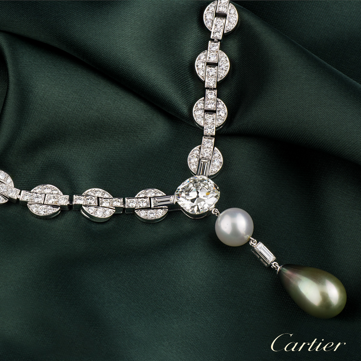 Cartier Orissa Diamond and Pearl Necklace
